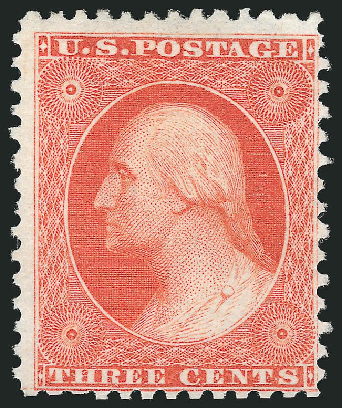 US Stamps Value Scott 41: 3c 1875 Washington Reprint. Robert Siegel Auction Galleries, Oct 2014, Sale 1082, Lot 361
