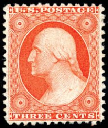 US Stamp Value Scott Catalogue 41: 3c 1875 Washington Reprint. Schuyler J. Rumsey Philatelic Auctions, Apr 2015, Sale 60, Lot 2004