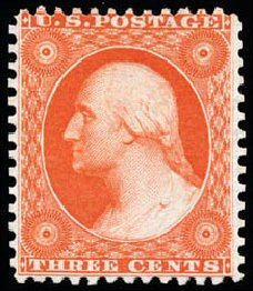 Costs of US Stamp Scott # 41: 1875 3c Washington Reprint. Schuyler J. Rumsey Philatelic Auctions, Apr 2015, Sale 60, Lot 2005