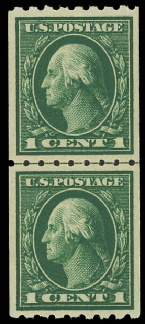 US Stamp Price Scott Catalogue # 410 - 1c 1912 Washington Coil. Daniel Kelleher Auctions, Apr 2012, Sale 629, Lot 329
