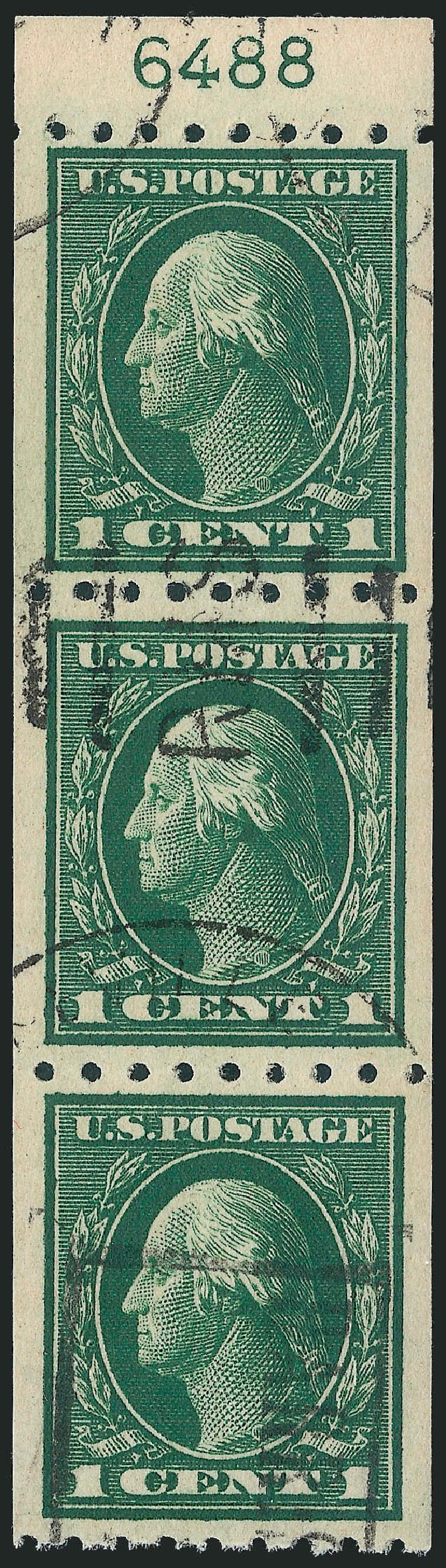 US Stamp Value Scott Cat. #410 - 1c 1912 Washington Coil. Robert Siegel Auction Galleries, Mar 2013, Sale 1040, Lot 1782
