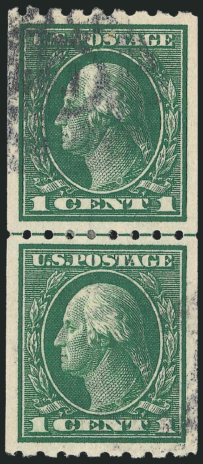US Stamp Value Scott # 410: 1c 1912 Washington Coil. Robert Siegel Auction Galleries, Sep 2012, Sale 1028, Lot 376