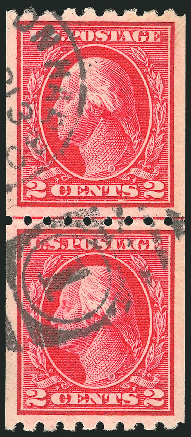 Costs of US Stamps Scott Cat. 411: 2c 1912 Washington Coil. Robert Siegel Auction Galleries, Sep 2012, Sale 1028, Lot 377