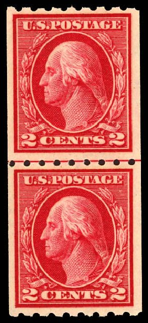 Value of US Stamps Scott Catalog #411: 2c 1912 Washington Coil. Daniel Kelleher Auctions, Dec 2012, Sale 633, Lot 714
