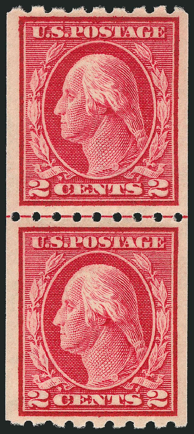 Value of US Stamps Scott Catalogue 411: 2c 1912 Washington Coil. Robert Siegel Auction Galleries, Nov 2012, Sale 1034, Lot 384