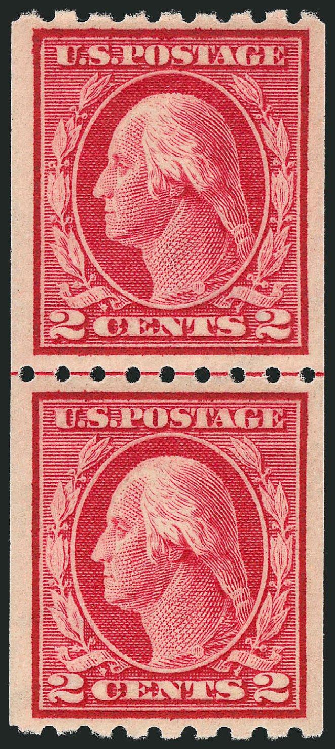 Value of US Stamps Scott Catalogue 411: 2c 1912 Washington Coil. Robert Siegel Auction Galleries, Nov 2012, Sale 1034, Lot 384