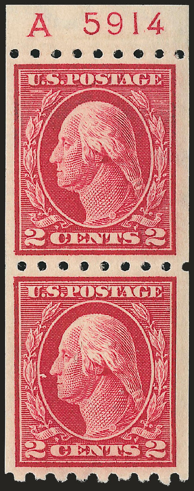 Values of US Stamps Scott 411 - 2c 1912 Washington Coil. Robert Siegel Auction Galleries, Apr 2010, Sale 984, Lot 864