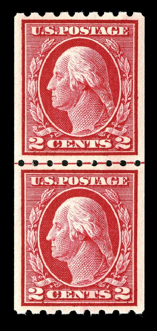 US Stamps Prices Scott # 411: 1912 2c Washington Coil. Spink Shreves Galleries, May 2014, Sale 148, Lot 294