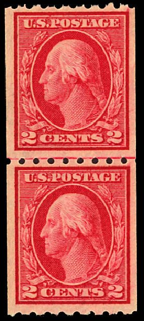 US Stamps Price Scott Catalogue # 411 - 2c 1912 Washington Coil. Daniel Kelleher Auctions, Dec 2012, Sale 633, Lot 715