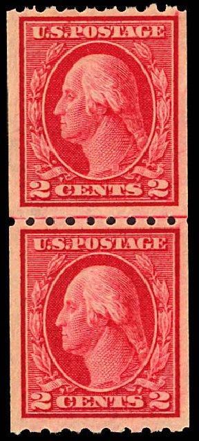 US Stamps Price Scott Catalogue # 411 - 2c 1912 Washington Coil. Daniel Kelleher Auctions, Dec 2012, Sale 633, Lot 715