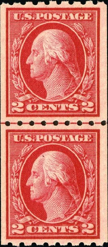 Value of US Stamps Scott Catalogue # 411: 1912 2c Washington Coil. Spink Shreves Galleries, Jan 2015, Sale 150, Lot 166