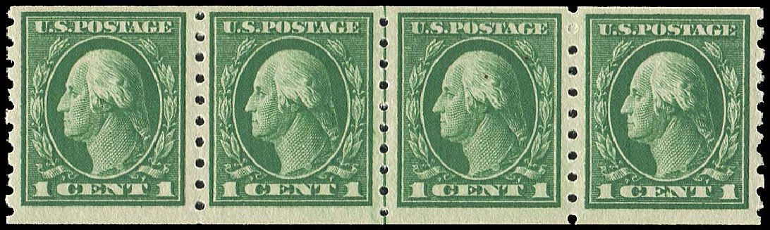 US Stamps Value Scott Catalog #412 - 1c 1912 Washington Coil. Regency-Superior, Jan 2015, Sale 109, Lot 1197