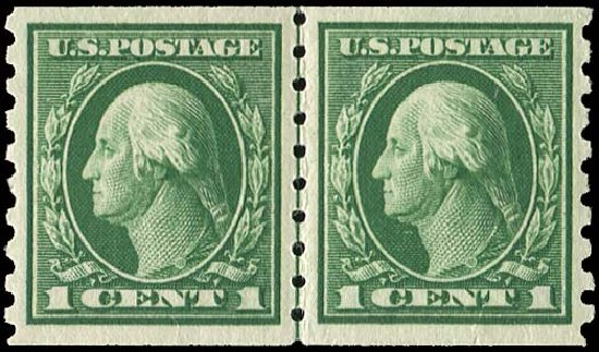 Values of US Stamps Scott Catalogue # 412: 1c 1912 Washington Coil. Regency-Superior, Nov 2014, Sale 108, Lot 808