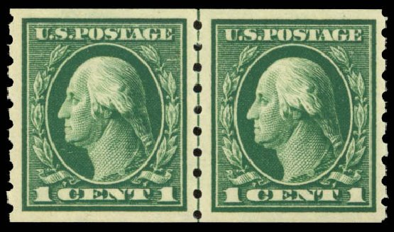 Value of US Stamp Scott #412: 1c 1912 Washington Coil. Daniel Kelleher Auctions, Sep 2014, Sale 655, Lot 479