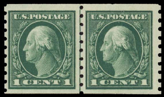 Prices of US Stamps Scott Cat. # 412: 1912 1c Washington Coil. Daniel Kelleher Auctions, May 2015, Sale 669, Lot 2989