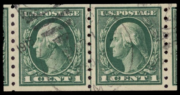 US Stamps Prices Scott # 412: 1c 1912 Washington Coil. Daniel Kelleher Auctions, May 2015, Sale 669, Lot 2991