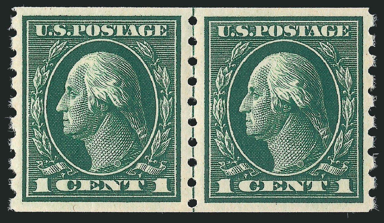 US Stamp Prices Scott Cat. # 412 - 1912 1c Washington Coil. Robert Siegel Auction Galleries, Feb 2015, Sale 1093, Lot 261