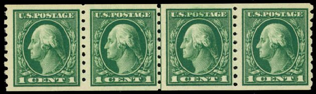 US Stamp Prices Scott Catalog # 412: 1c 1912 Washington Coil. Daniel Kelleher Auctions, May 2014, Sale 652, Lot 616