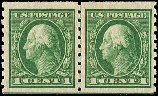 Cost of US Stamp Scott #412 - 1c 1912 Washington Coil. Regency-Superior, Jan 2015, Sale 109, Lot 1196