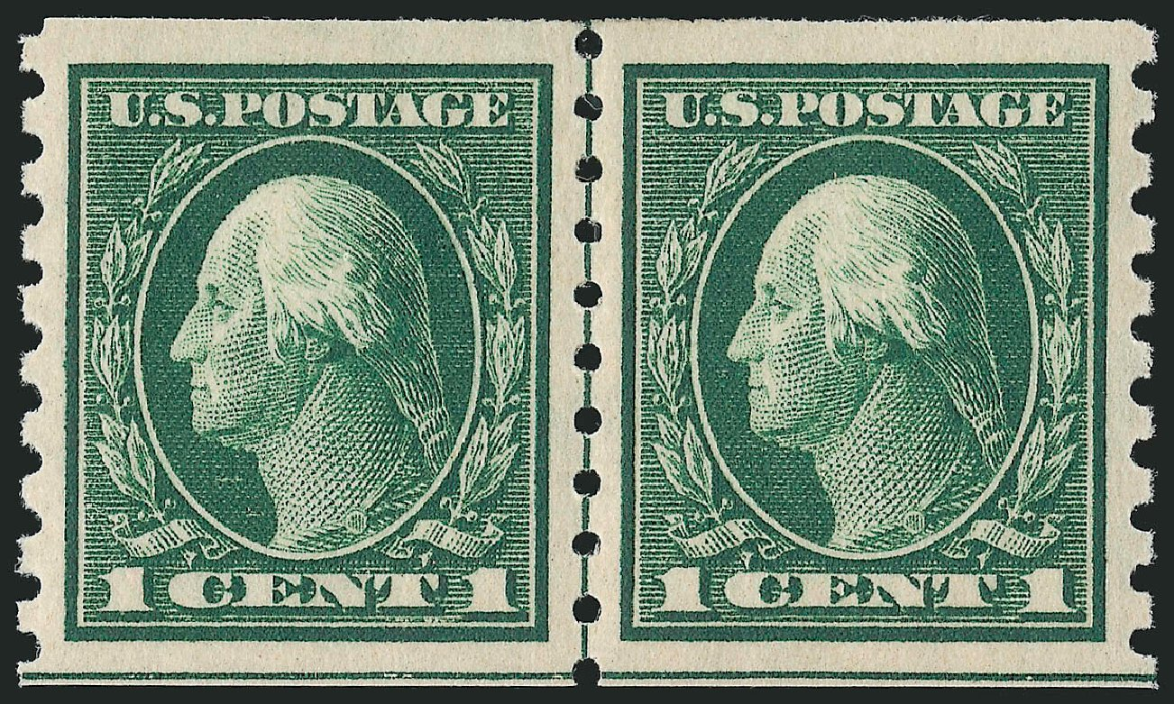 Prices of US Stamp Scott Catalog 412: 1c 1912 Washington Coil. Robert Siegel Auction Galleries, Mar 2014, Sale 1067, Lot 1496