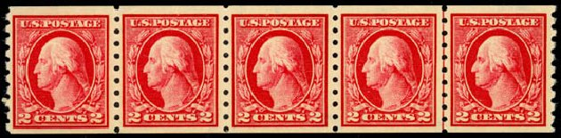 Value of US Stamp Scott Catalogue 413: 1912 2c Washington Coil. Daniel Kelleher Auctions, May 2014, Sale 652, Lot 617