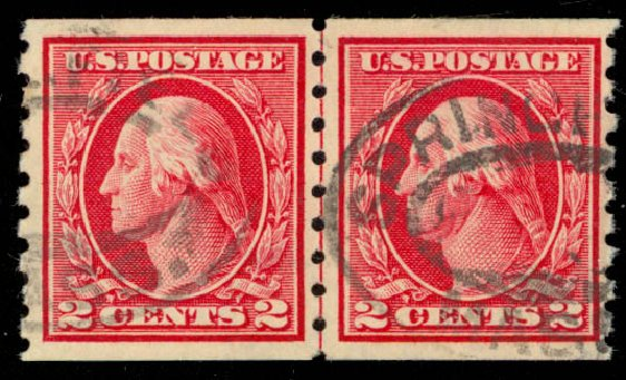 US Stamps Value Scott # 413 - 2c 1912 Washington Coil. Daniel Kelleher Auctions, Jan 2015, Sale 663, Lot 1768