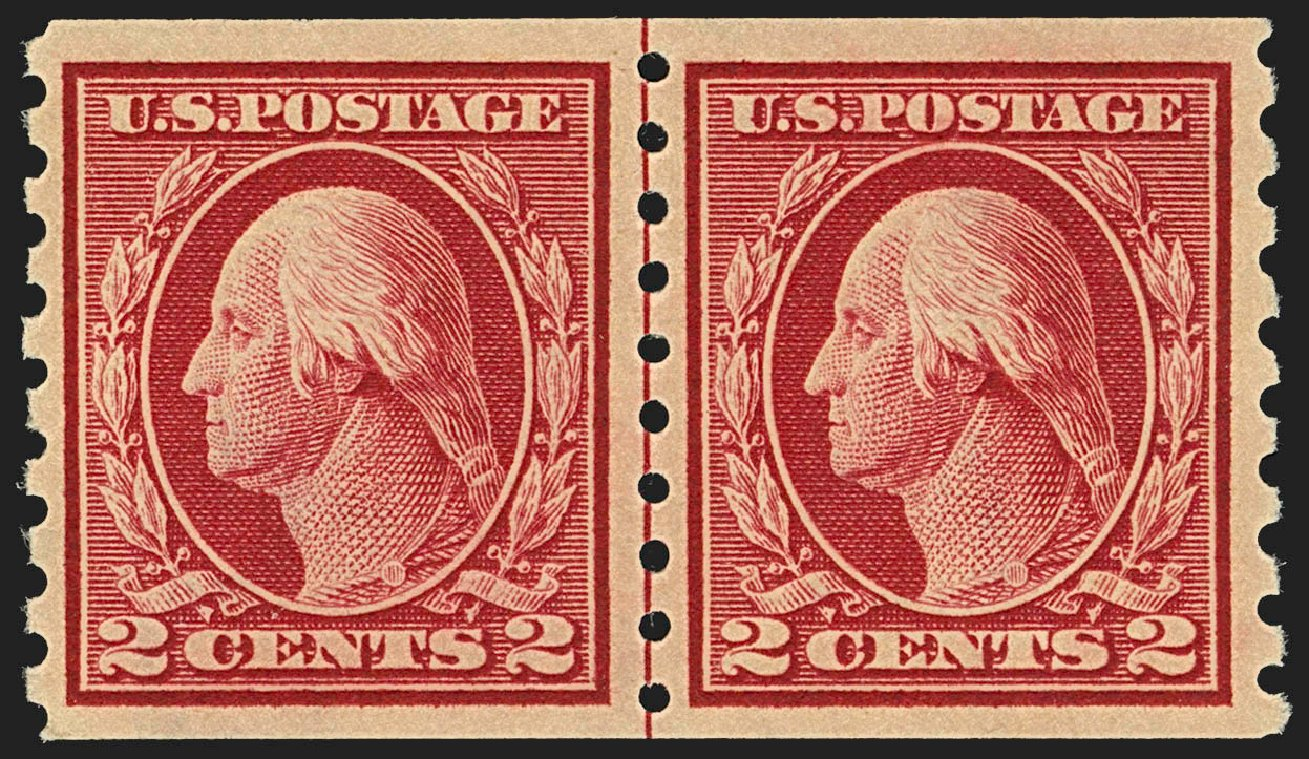 Values of US Stamp Scott #413: 2c 1912 Washington Coil. Robert Siegel Auction Galleries, Jul 2015, Sale 1107, Lot 458