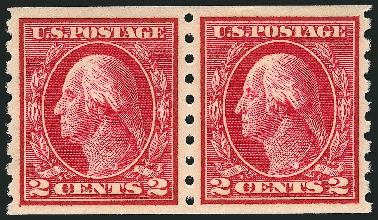 US Stamps Price Scott Cat. 413: 1912 2c Washington Coil. Robert Siegel Auction Galleries, Apr 2015, Sale 1096, Lot 661