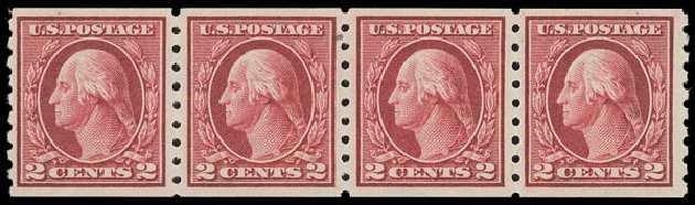 Prices of US Stamps Scott Catalog 413 - 1912 2c Washington Coil. Daniel Kelleher Auctions, Aug 2015, Sale 672, Lot 2715
