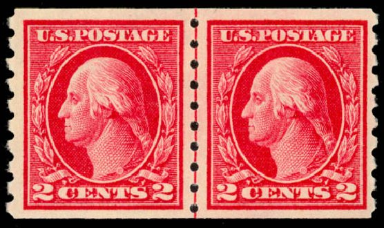 US Stamp Values Scott Catalogue # 413: 2c 1912 Washington Coil. Daniel Kelleher Auctions, Sep 2014, Sale 655, Lot 482