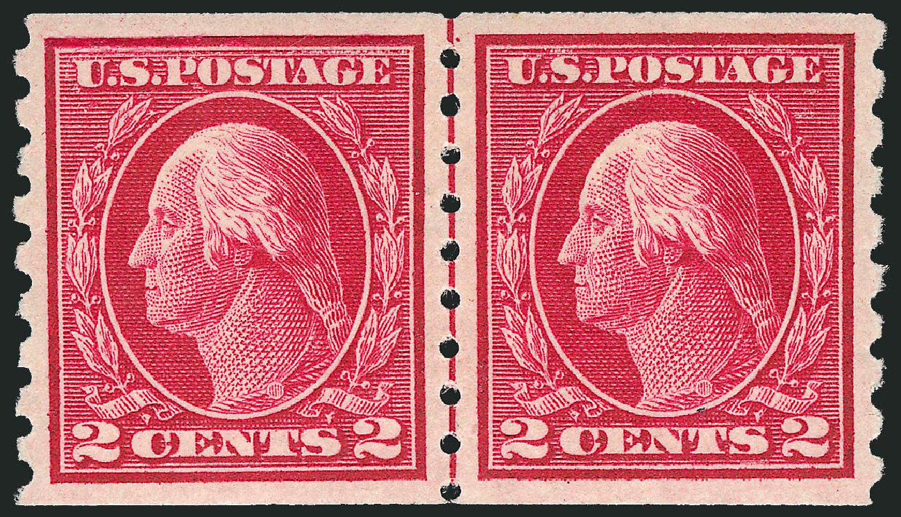 Values of US Stamp Scott #413 - 1912 2c Washington Coil. Robert Siegel Auction Galleries, Feb 2015, Sale 1093, Lot 262