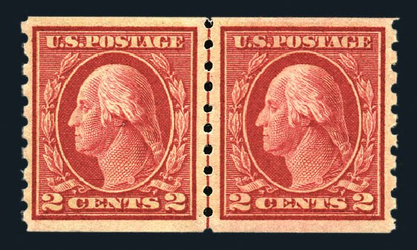 US Stamps Price Scott #413: 1912 2c Washington Coil. Harmer-Schau Auction Galleries, Aug 2015, Sale 106, Lot 1806