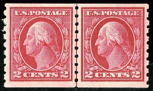 Value of US Stamp Scott Catalogue 413: 1912 2c Washington Coil. Spink Shreves Galleries, May 2014, Sale 148, Lot 296