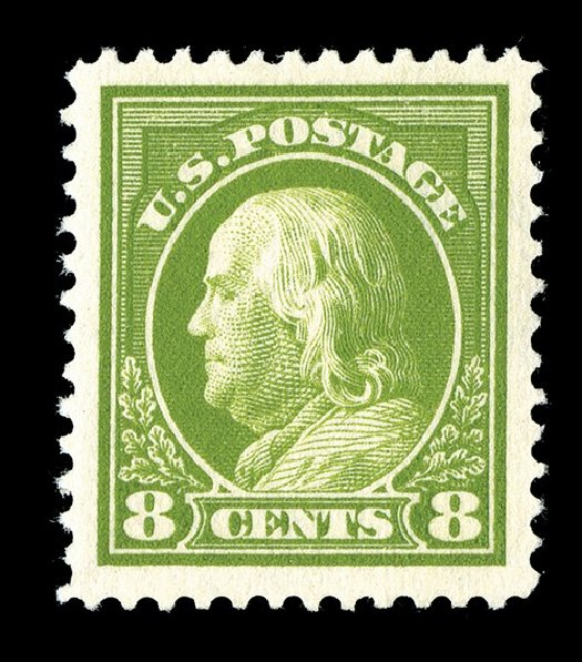 Value of US Stamps Scott # 414: 1912 8c Franklin Perf 12. Spink Shreves Galleries, May 2014, Sale 148, Lot 297