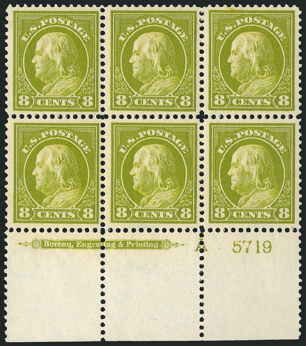 Value of US Stamps Scott Cat. #414 - 8c 1912 Franklin Perf 12. Robert Siegel Auction Galleries, Mar 2014, Sale 1067, Lot 1499
