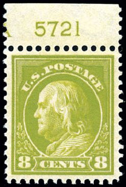 US Stamps Price Scott # 414: 8c 1912 Franklin Perf 12. Schuyler J. Rumsey Philatelic Auctions, Apr 2015, Sale 60, Lot 2811