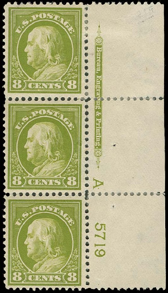 Price of US Stamp Scott Catalogue 414: 1912 8c Franklin Perf 12. H.R. Harmer, Oct 2014, Sale 3006, Lot 1356