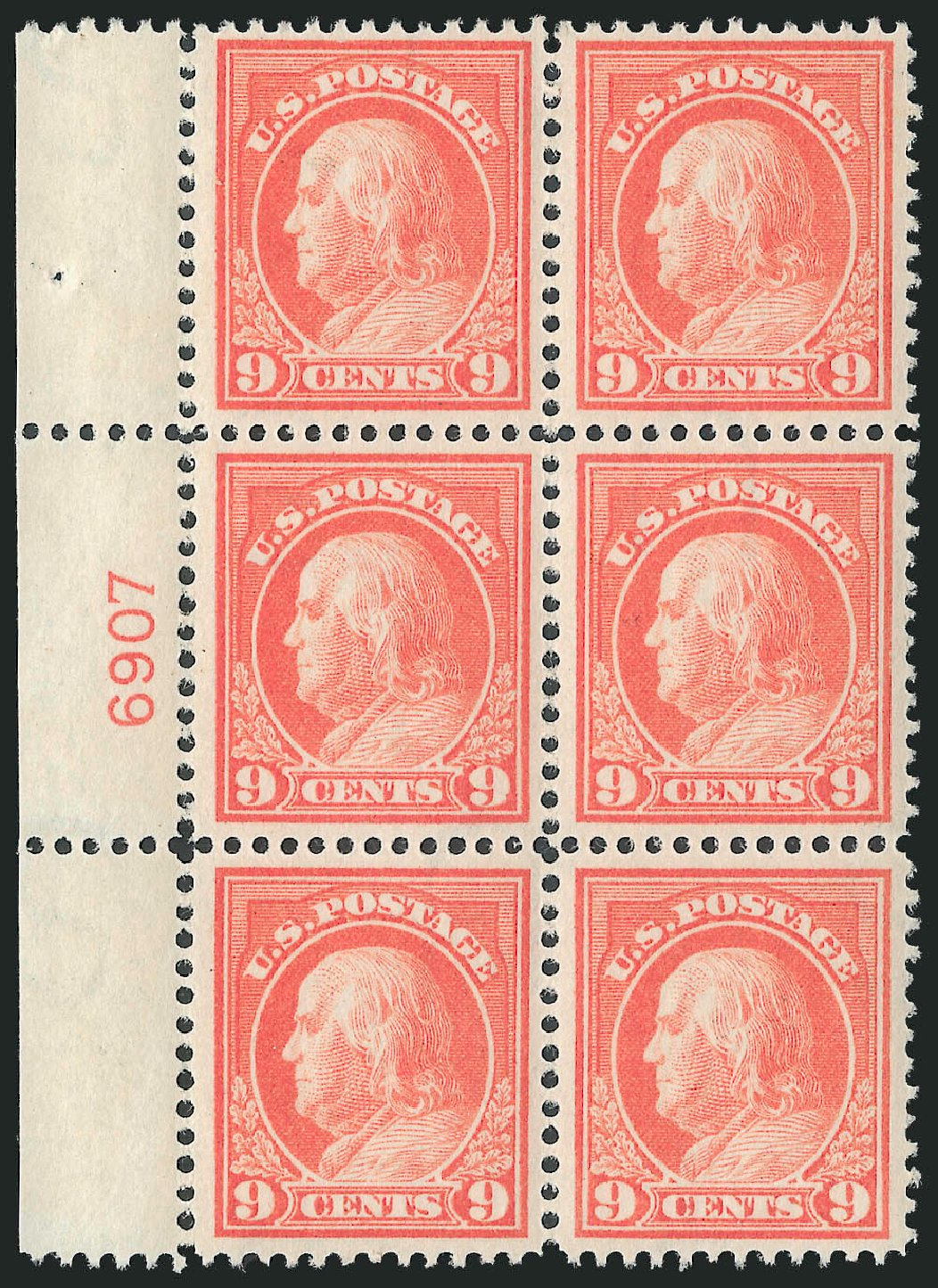 US Stamps Value Scott Catalogue # 415 - 9c 1914 Franklin Perf 12. Robert Siegel Auction Galleries, Mar 2013, Sale 1040, Lot 1787