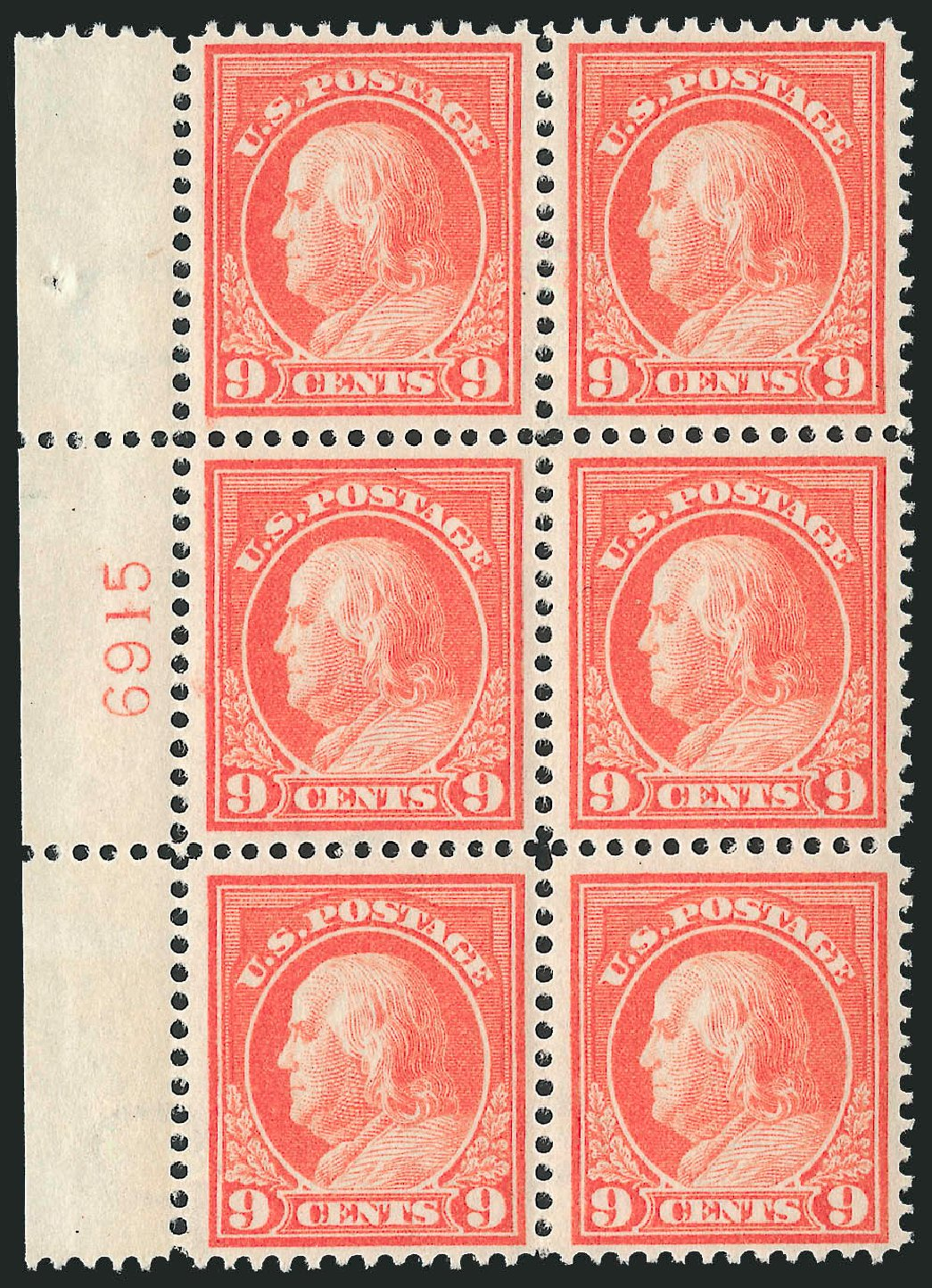 Costs of US Stamps Scott Cat. #415 - 1914 9c Franklin Perf 12. Robert Siegel Auction Galleries, Mar 2014, Sale 1067, Lot 1500