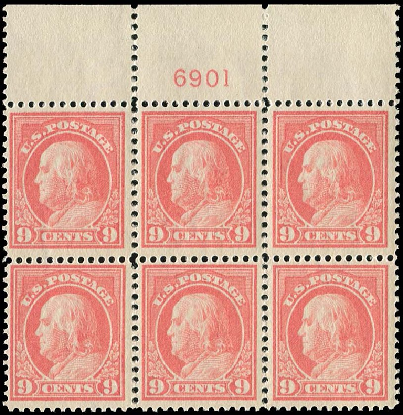 Cost of US Stamp Scott Cat. 415 - 9c 1914 Franklin Perf 12. Regency-Superior, Jan 2015, Sale 109, Lot 1634
