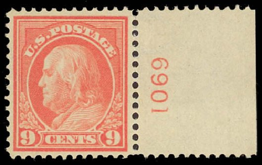 Costs of US Stamps Scott Catalog 415: 1914 9c Franklin Perf 12. Daniel Kelleher Auctions, Oct 2012, Sale 632, Lot 1333