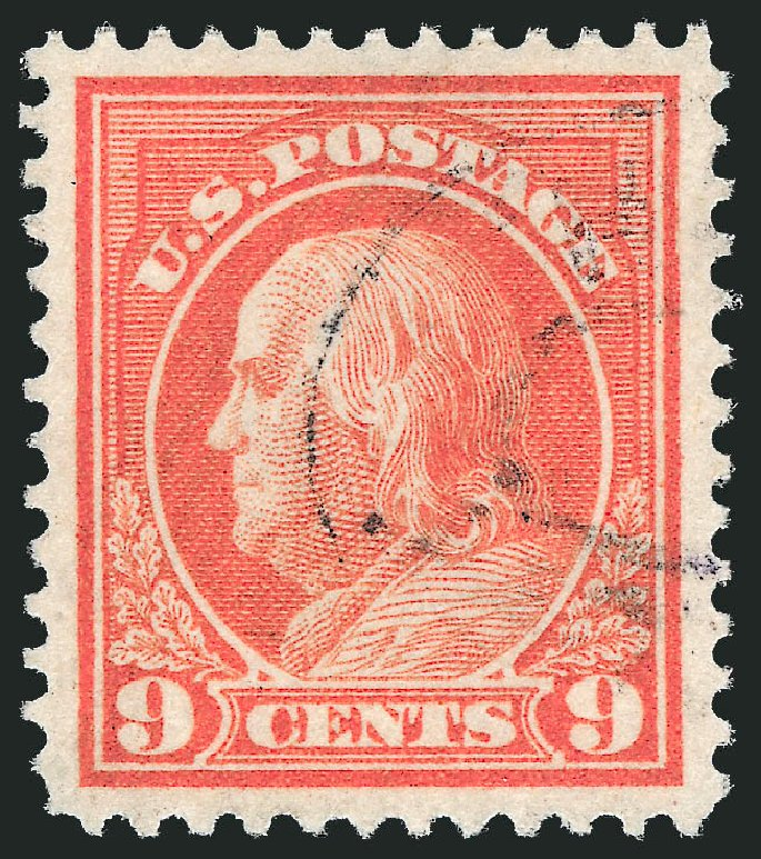Value of US Stamps Scott Catalog 415: 9c 1914 Franklin Perf 12. Robert Siegel Auction Galleries, Feb 2015, Sale 1093, Lot 266