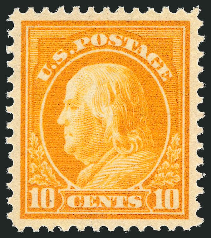 US Stamp Values Scott # 416 - 1912 10c Franklin Perf 12. Robert Siegel Auction Galleries, Feb 2015, Sale 1093, Lot 267