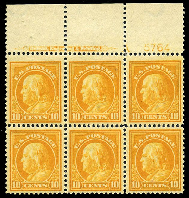 Prices of US Stamps Scott Cat. #416: 1912 10c Franklin Perf 12. Matthew Bennett International, May 2014, Sale 350, Lot 568