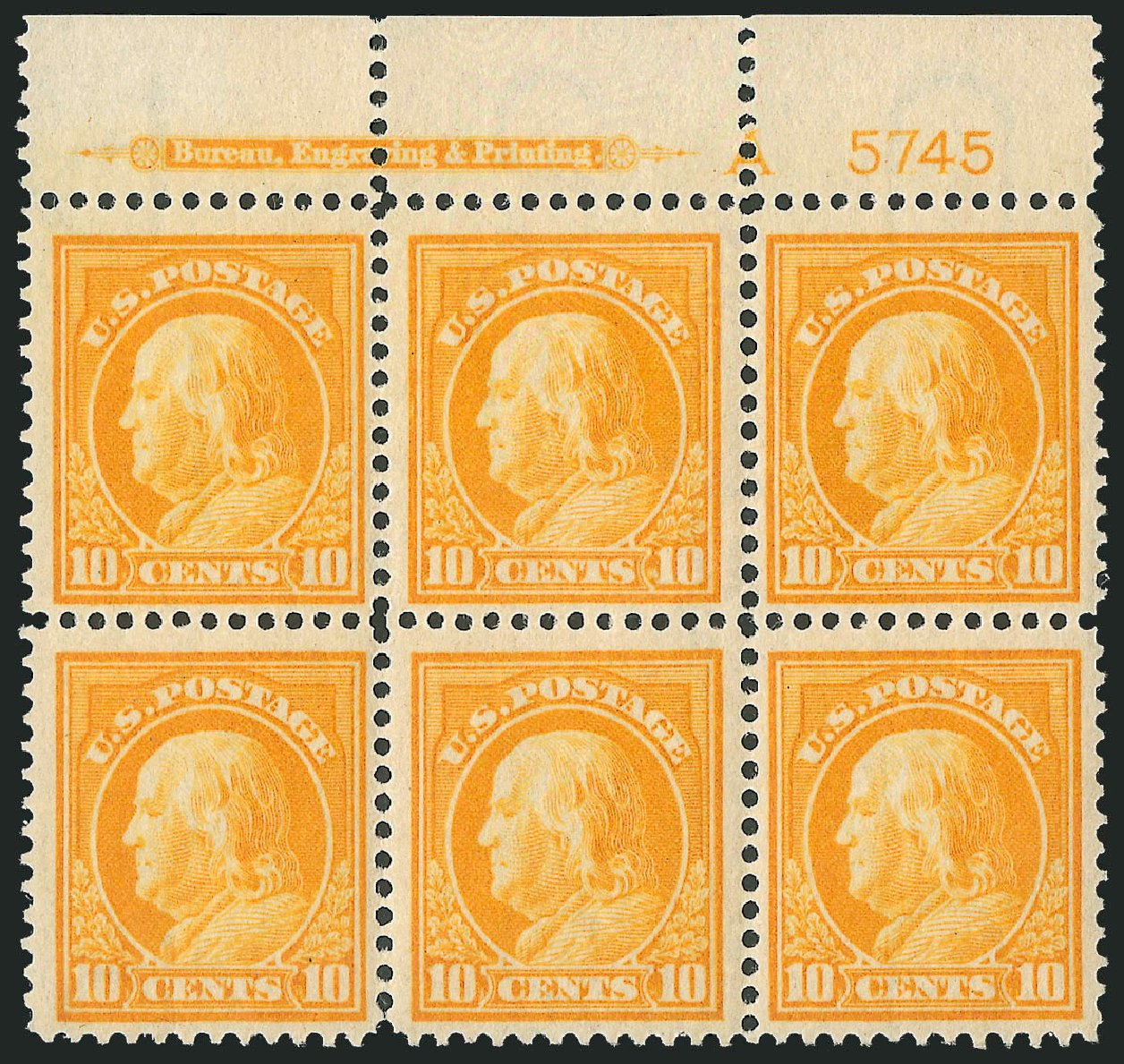 Values of US Stamp Scott Catalogue # 416: 1912 10c Franklin Perf 12. Robert Siegel Auction Galleries, Mar 2013, Sale 1040, Lot 1788