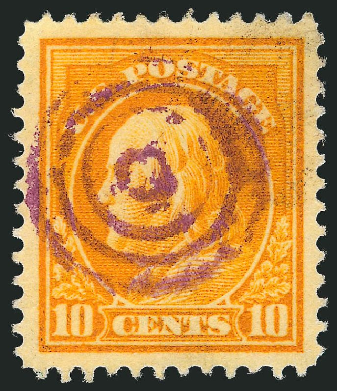Prices of US Stamp Scott Catalog # 416: 10c 1912 Franklin Perf 12. Robert Siegel Auction Galleries, Jul 2013, Sale 1050, Lot 538