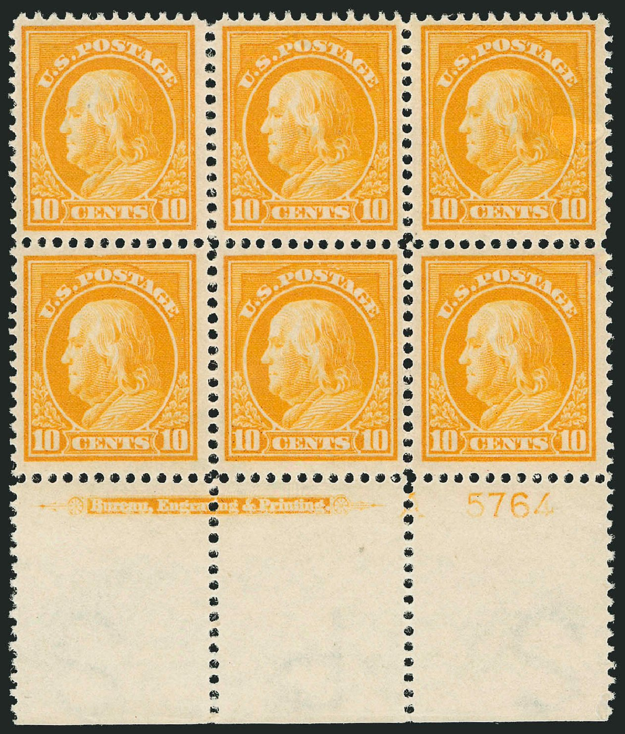 Prices of US Stamp Scott Catalogue #416: 10c 1912 Franklin Perf 12. Robert Siegel Auction Galleries, Feb 2015, Sale 1093, Lot 268