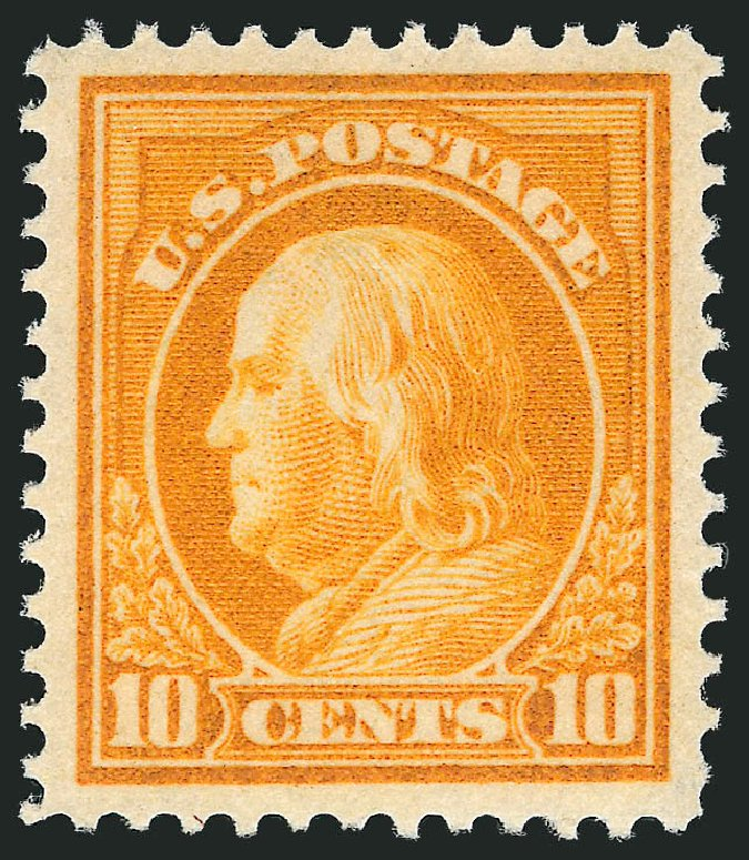 Cost of US Stamps Scott Catalogue 416: 1912 10c Franklin Perf 12. Robert Siegel Auction Galleries, May 2013, Sale 1044, Lot 269
