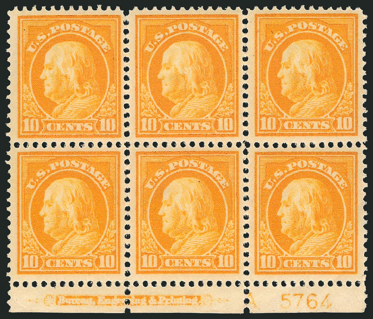 Costs of US Stamp Scott 416: 1912 10c Franklin Perf 12. Robert Siegel Auction Galleries, Mar 2014, Sale 1067, Lot 1501