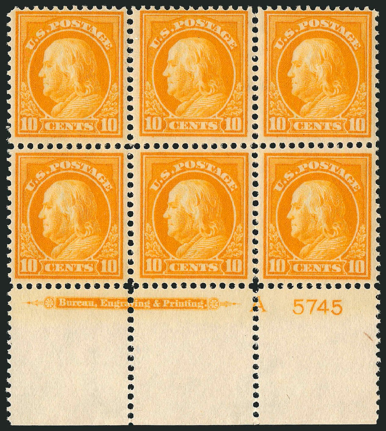 Values of US Stamp Scott Catalogue 416: 1912 10c Franklin Perf 12. Robert Siegel Auction Galleries, Sep 2014, Sale 1078, Lot 514